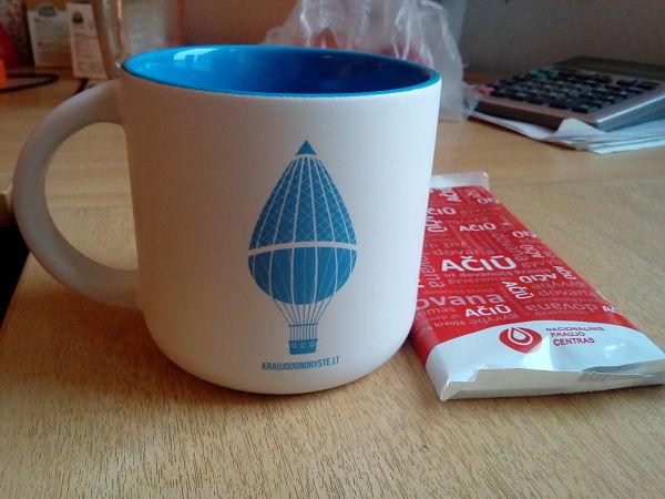 Kraujo centras Mėlynas puodelis
